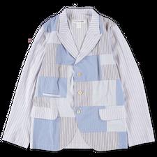 Comme des Garçons SHIRT Patch Work Poplin Jacket - Multi Stripe