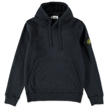 Stone Island Classic Hooded Fleece Sweatshirt 741564151 V0020 - NAVY BLUE