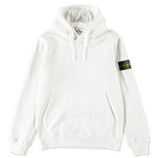 Stone Island Classic Hooded Fleece Sweatshirt 741564151 V0001  - WHITE
