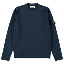 Stone Island Cotton Nylon GD Crewneck 7415502B0 V0024 - AVIO BLUE