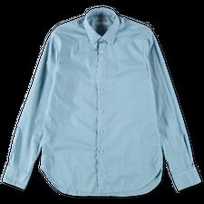 Nitty Gritty Washed Poplin Shirt - Aqua