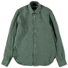 Nitty Gritty Washed Linen Shirt - Green