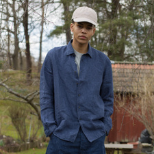 Nitty Gritty Washed Linen Shirt - Navy