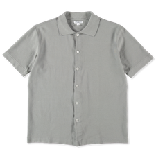 Lady White Co. S/S Placket Polo - Steel Grey
