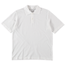 Lady White Co. S/S Two-Button Polo - White