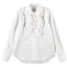 Comme des Garçons Comme des Garçons Ruffle Shirt - White