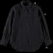 Nitty Gritty Boxy Linen Shirt - Black