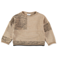 Toast                                              Cotton Marl Collage Sweater - Parchment