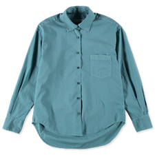 Nitty Gritty Garment Dyed Boxy Shirt - Teal