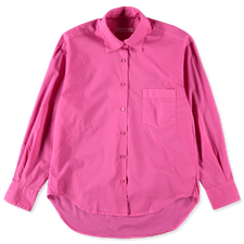 Nitty Gritty Garment Dyed Boxy Shirt - Magenta