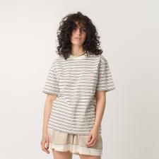 Danton                                             Stripe Pocket T - Cream Stripe