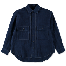 Evan Kinori                                        Big Shirt - Indigo