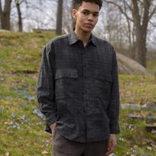 Evan Kinori                                        Overdyed Big Shirt - Ink Black