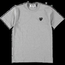 Comme des Garçons PLAY Mens Black Heart T-Shirt - Grey