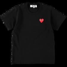 Comme des Garçons PLAY Womens Red Heart T-Shirt - Black