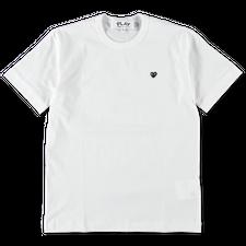 Comme des Garçons PLAY Mens Black Heart T-Shirt - White