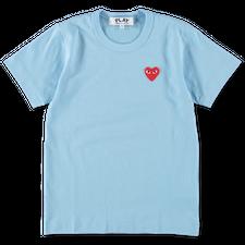 Comme des Garçons PLAY Womens Red Heart T-Shirt - Blue