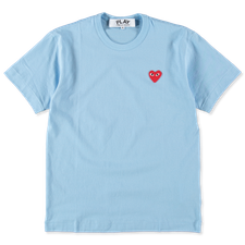 Comme des Garçons PLAY Mens Red Heart T-Shirt - Blue