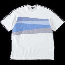 Comme des Garçons Homme                            Patchwork T-Shirt - White / Blue