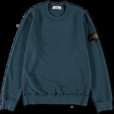 Stone Island Brushed Fleece Sweatshirt 751563020 V0023 - Cobalt Blue