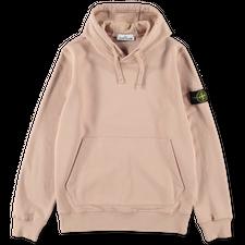Stone Island Brushed Fleece Hooded Sweatshirt 751564120 V0082 - Antique Rose