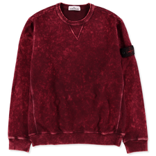 Stone Island Off Dye OVD Treatment Fleece Sweatshirt - 751561538  - V0012 - Burgundy