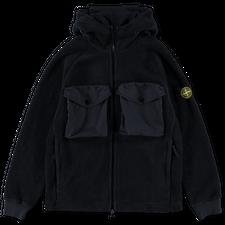 Stone Island Polar Fleece Zip Hooded Sweatshirt 751560134 V0020 - Navy Blue