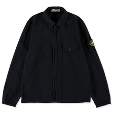 Stone Island Textured Recycled Cotton GD Overshirt 751510704 V0020 - Navy Blue