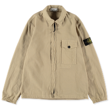 Stone Island Textured Recycled Cotton GD Overshirt 751510704 V0091 - Natural Beige