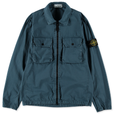 Stone Island Canvas GD Old Effect Overshirt 7515113WN V0123 - Cobalt Blue