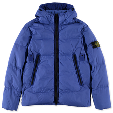 Stone Island Crinkle Reps GD Hooded Down Jacket 751540123 V0043 - Periwinkle