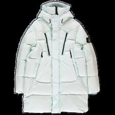 Stone Island Crinkle Reps GD Hooded Down Coat - 751570123  - V0052 - Light Green
