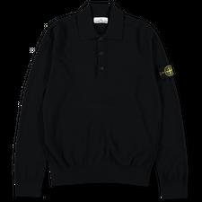 Stone Island Stretch Wool L/S Polo 7515512A1 V0029 - Black