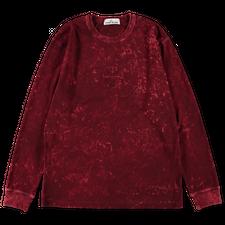 Stone Island Off Dye OVD Treatment Jersey L/S T-Shirt 751520245 V0012 - Burgundy