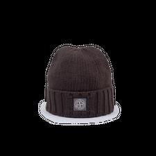 Stone Island Heavy GD Patch Wool Hat - Dark Brown