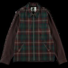 Anglozine Mayne Tartan Overshirt - Brown