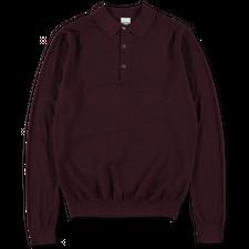 Aspesi Knitted Polo Shirt - Burgundy
