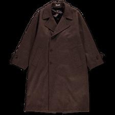 Auralee                                 Super Milled Double Breasted Coat - Dark Brown