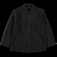 Auralee                                 Brushed Cashmere Big Shirt - Charcoal