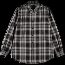 Auralee                                 Wool Recycled Poly Cloth Shirt - Black Check
