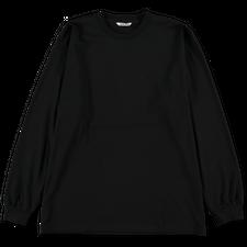 Auralee                                 Luster Plainting L/S Tee - Black