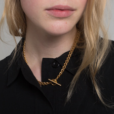 All Blues DNA Necklace - Polished Gold