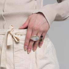 Cornelia Webb Waved Open Ring L - Sterling Silver