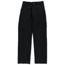 Bergfabel                                          Tyrol Wool/Linen Straight Leg Pants - Black Navy