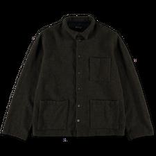 Bergfabel                                          Worker HB Wool Shirt - Moss