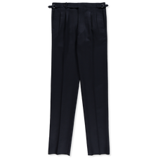 Camoshita 2 Pleat Pants - Navy