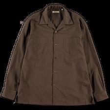 Camoshita Open Collar Shirt - Moca