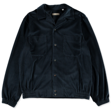 Camoshita Velour Shirt Blouson - Cobalt