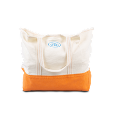Reception                                          Cotton Canvas Shopper Bag - White/Orange