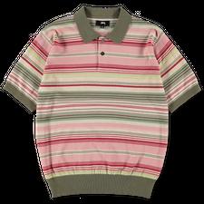 Stüssy Knit Stripe Polo - Olive